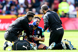 Andros Townsend of Crystal Palace recieves treatment for an injury - Mandatory by-line: Robbie Stephenson/JMP - 18/08/2019 - FOOTBALL - Bramall Lane - Sheffield, England - Sheffield United v Crystal Palace - Premier League