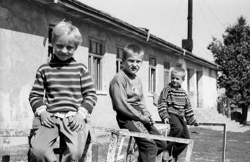 The orphanage of Popricani, Molodovia, North-East of Romania, in 1997