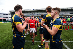 Worcester Warriors U18 clap off their opponents after securing the win - Rogan Thomson/JMP - 16/02/2017 - RUGBY UNION - Sixways Stadium - Worcester, England - Worcester Warriors U18 v Saracens U18 - Premiership Rugby Under 18 Academy Finals Day 5th Place Play-Off.