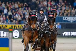 HARM Mareike (GER), Tulipan Allegra Xxxiv-4, El Chico, Luxus Boy, Quebec Sautreuil, Zazou<br /> Stuttgart - German Masters 2019<br /> FEI Driving World Cup™ DB SCHENKER GERMAN MASTER<br /> Wertungsprüfung für den FEI Driving World Cup™ 2019/2020<br /> Int. Zeit-Hindernisfahren Vierspänner mit 2 Umläufen<br /> 16. November 2019<br /> © www.sportfotos-lafrentz.de/Stefan Lafrentz