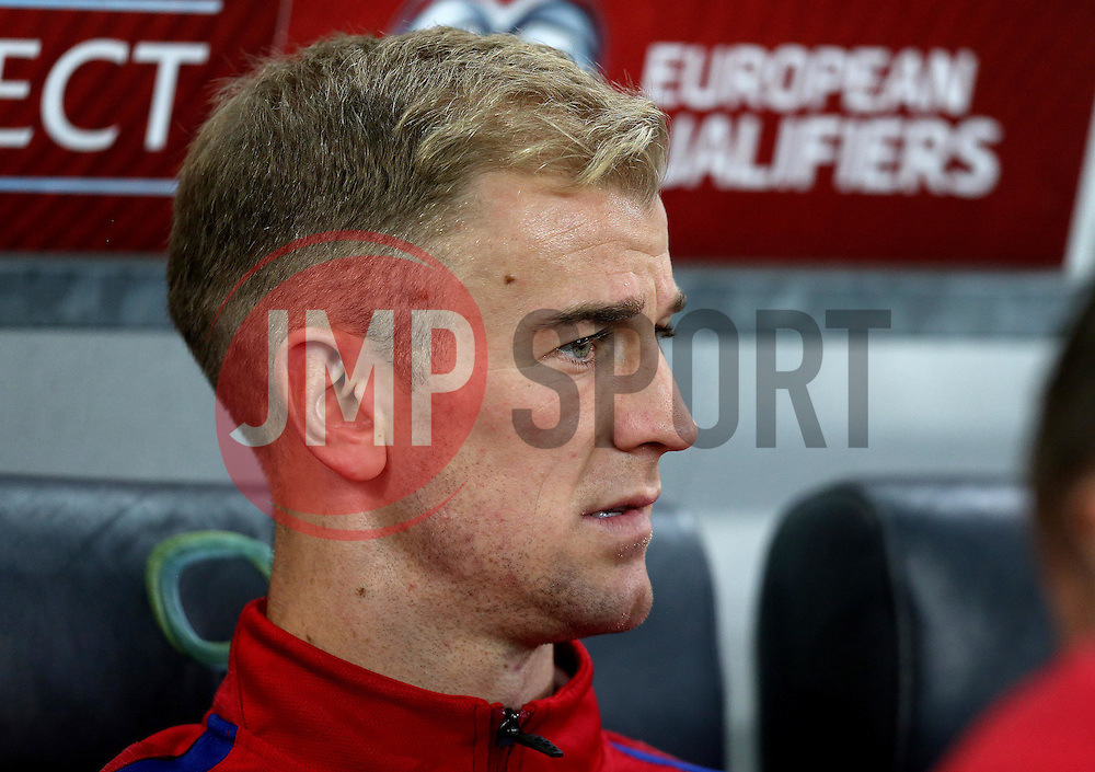 Joe Hart of England arrives at The SRC Stozice Stadium ahead of the World Cup Qualifier against Slovenia - Mandatory by-line: Robbie Stephenson/JMP - 10/10/2016 - FOOTBALL - SRC Stozice - Ljubljana, England - England Press Conference
