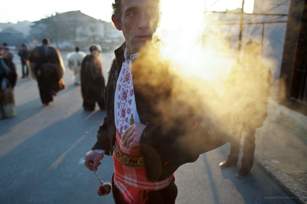Jan. 2, 2011 -- Kukeri, babugeri, survakari -- Balkan traditions.
