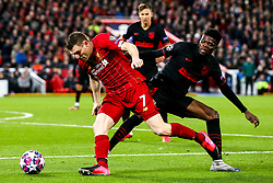James Milner of Liverpool takes on Thomas Partey of Atletico Madrid - Mandatory by-line: Robbie Stephenson/JMP - 11/03/2020 - FOOTBALL - Anfield - Liverpool, England - Liverpool v Atletico Madrid - UEFA Champions League Round of 16, 2nd Leg