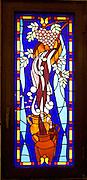 LEBANON, BEIRUT:  Stained glass window of Christian Protestant church in Beirut, Lebanon.