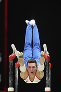 David Belyavskiy (Russia) the parallel bars competition during the presentation of the teams during the European Championships Glasgow 2018, Team Men Final at The SSE Hydro in Glasgow, Great Britain, Day 10, on August 11, 2018 - Photo Laurent Lairys / ProSportsImages / DPPI