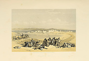 Suez General View An engraving by Louis Haghe after David Roberts from The Holy Land : Syria, Idumea, Arabia, Egypt & Nubia by Roberts, David, (1796-1864) Engraved by Louis Haghe. Volume 4. Book Published in 1855 by D. Appleton & Co., 346 & 348 Broadway in New York.