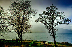Rain clouds over Loch Linnhe, Highlands of Scotland<br /> <br /> (c) Andrew Wilson | Edinburgh Elite media