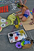 West Reading Summer Street Arts Festival, Berks Co., PA Penn Ave Painting,