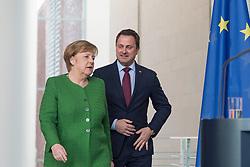 19.02.2018, Bundeskanzleramt, Berlin, GER, Bettel bei Merkel, im Bild v.l.: Deutschlands Bundeskanzlerin Angela Merkel, Premierminister von Luxemburg Xavier Bettel // Angela Merkel (Christian Democratic Party - CDU) receives Prime Minister of Luxembourg Xavier Bettel at the Bundeskanzleramt in Berlin, Germany on 2018/02/19. EXPA Pictures © 2018, PhotoCredit: EXPA/ Eibner-Pressefoto/ Uwe Koch<br /> <br /> *****ATTENTION - OUT of GER*****