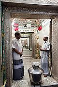 Passage to the inner shrine at Naggor Dargah.