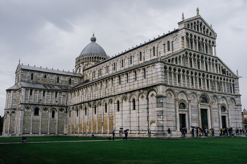 The Duomo (cathedral) in the PIazza dei Miracoli in Pisa, Italy