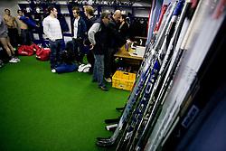 Hockey stics at first practice of Slovenian National Ice hockey team before World championship of Division I - group B in Ljubljana, on April 5, 2010, in Hala Tivoli, Ljubljana, Slovenia.  (Photo by Vid Ponikvar / Sportida)