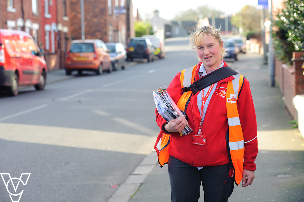 Generic stock images at Royal Mail's Crewe Delivery Office.  Pictured is Claire Nutting.<br /> <br /> Date: February 2, 2016