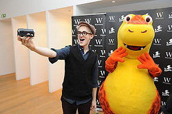 © Licensed to London News Pictures. 16/12/2014 <br /> Tom and Dougie arriving with Tom filming.<br /> McBusted's  Tom Fletcher and Dougie Poynter signing copies of their Dinosaur That Pooped books. The Pooping Dinosaur at Waterstones, Bluewater,Greenhithe.<br /> <br /> (Byline:Grant Falvey/LNP)