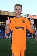 AFC Wimbledon goalkeeper George Long (1) giving thumbs up during the EFL Sky Bet League 1 match between AFC Wimbledon and Bury at the Cherry Red Records Stadium, Kingston, England on 5 May 2018. Picture by Matthew Redman.