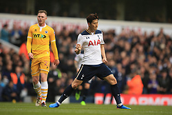 12 March 2017 - The FA Cup - (Sixth Round) - Tottenham Hotspur v Millwall - Son Heung-min of Tottenham Hotspur celebrates scoring their 2nd goal - Photo: Marc Atkins / Offside.