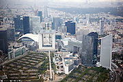 La Grande Arche de la Defense is a monument and building in the business district of La Defense and in the commune of Puteaux (to the west of Paris, France). In addition, the Arche is placed so that it forms a secondary axis with the two highest buildings in Paris: The Tour Eiffel and the Tour Montparnasse. The Two sides of the Arche house government offices.