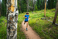 Joe Grant strolling through the Gold Hill Trail, Breckenridge, Colorado.