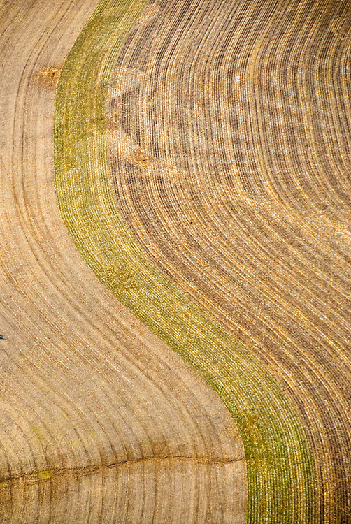 Aerial of crop fields in Stewartstown, PA