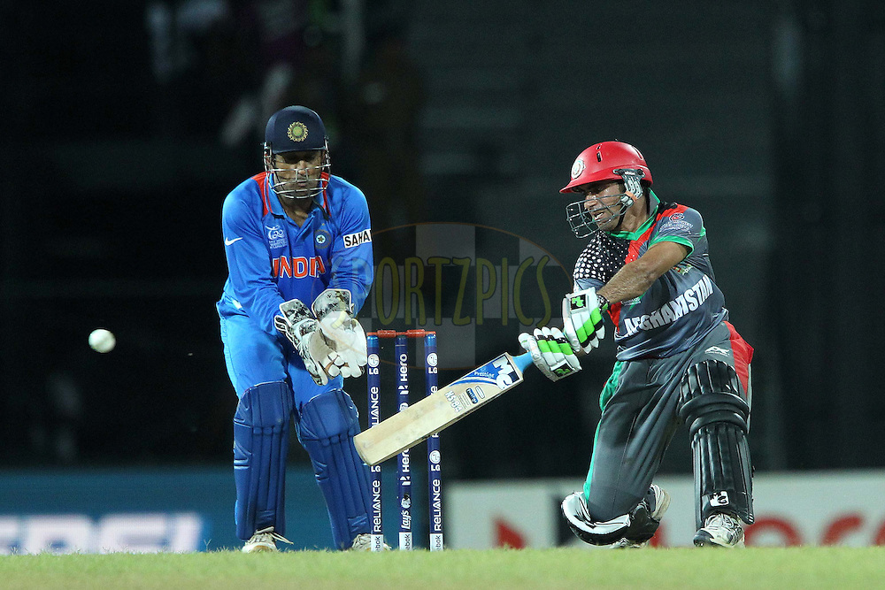 Karim Sadeq during the ICC World Twenty20 match between India and Afghanistan held at the Premadasa Stadium in Colombo, Sri Lanka on the 19th September 2012..Photo by Ron Gaunt/SPORTZPICS