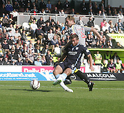 Peter MacDonald slides home Dundee's winner - St Mirren v Dundee, SPFL Premiership at St Mirren Park<br /> <br />  - &copy; David Young - www.davidyoungphoto.co.uk - email: davidyoungphoto@gmail.com