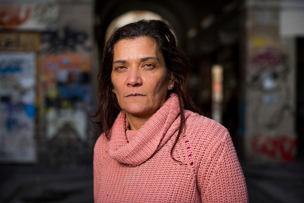 January 17, 2017, Paris, France. Nadia Remadna, born in Cr&eacute;teil on November 15, 1959, president of &lsquo;Brigade des m&egrave;res&rsquo; (Mothers' Brigade). Author, mother of four children, mediator, militant against radicalization, she denounces the abandonment of republican principles in the suburbs.<br /> <br /> 17 janvier 2017, Paris, France. Nadia Remadna, n&eacute;e &agrave; Cr&eacute;teil le 15 novembre 1959, pr&eacute;sidente de la Brigade des m&egrave;res, fond&eacute;e &agrave; Sevran en Seine Saint-Denis. Auteure du livre Comment j'ai sauv&eacute; mes enfants, m&egrave;re de quatre enfants, m&eacute;diatrice, militante contre la radicalisation. elle d&eacute;nonce l'abandon des principes r&eacute;publicains dans les banlieues.