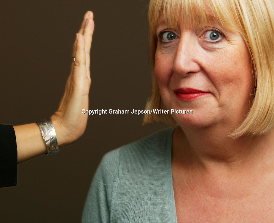 Lynne Truss, author of 'Eats, Shoots and Leaves' and new 'Talk to the Hand'<br /><br />copyright Graham Jepson/Writer Pictures<br />contact: +44 (0)20 8241 0039<br />sales@writerpictues.com<br />www.writerpictures.com