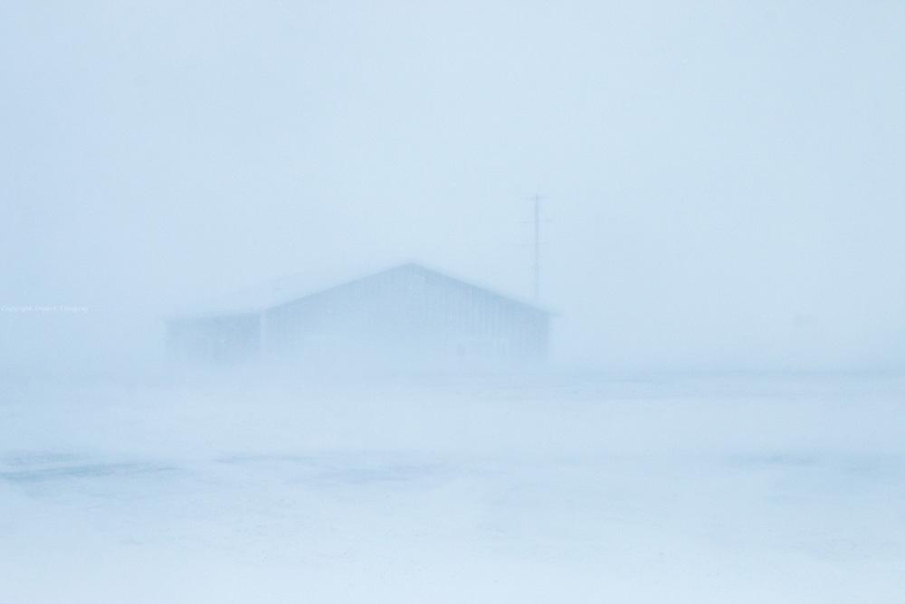 Frosty and snowy landscape in North Dakota.