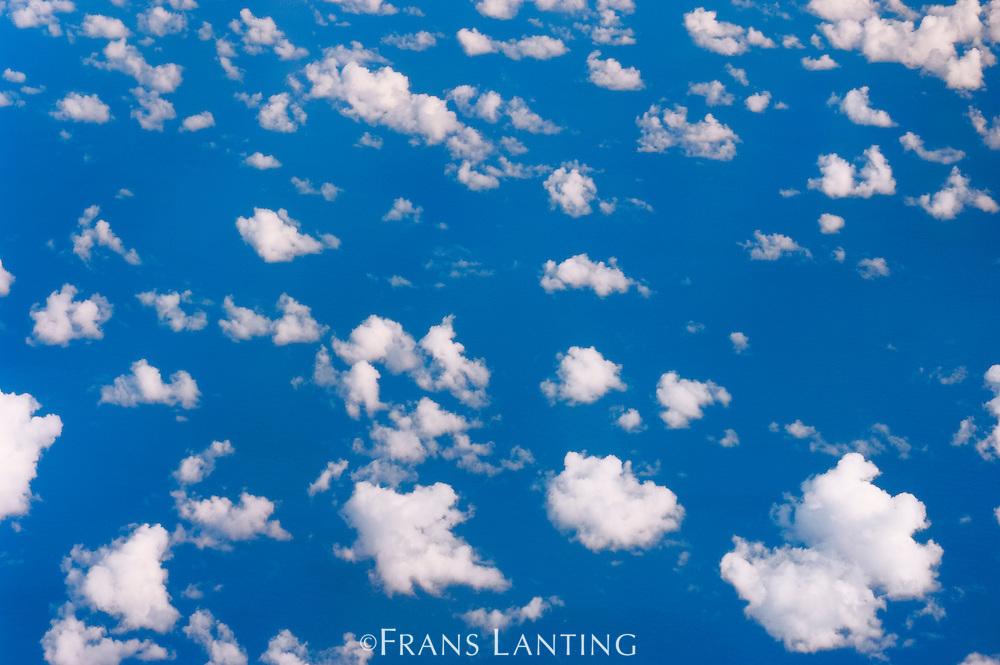 Clouds over ocean,