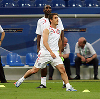 Photo: Chris Ratcliffe.<br />England Training Session. FIFA World Cup 2006. 30/06/2006.<br />Gary Neville in training.