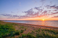 Shoreline, Sunset, Napeague Harbor, Amagansett, Long Island, New York
