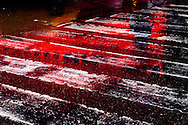 New York. Times square and Broadway. strange red  light  and  reflections in the rain. / Rouge . lumiere etrange et reflets sous la pluie, Times square   New york - Etats unis