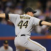 NEW YORK, NEW YORK - June 14:  Pitcher Tony Watson #44 of the Pittsburgh Pirates pitching during the Pittsburgh Pirates Vs New York Mets regular season MLB game at Citi Field on June 14, 2016 in New York City. (Photo by Tim Clayton/Corbis via Getty Images)
