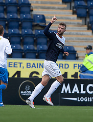 Falkirk's Rory Loy cele scoring their second goal.<br /> half time : Falkirk 2 v 0 Morton, Scottish Championship 17/8/2013.<br /> &copy;Michael Schofield.