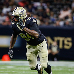 Aug 26, 2017; New Orleans, LA, USA; New Orleans Saints defensive end Cameron Jordan (94) against the Houston Texans during the first quarter of a preseason game at the Mercedes-Benz Superdome. Mandatory Credit: Derick E. Hingle-USA TODAY Sports