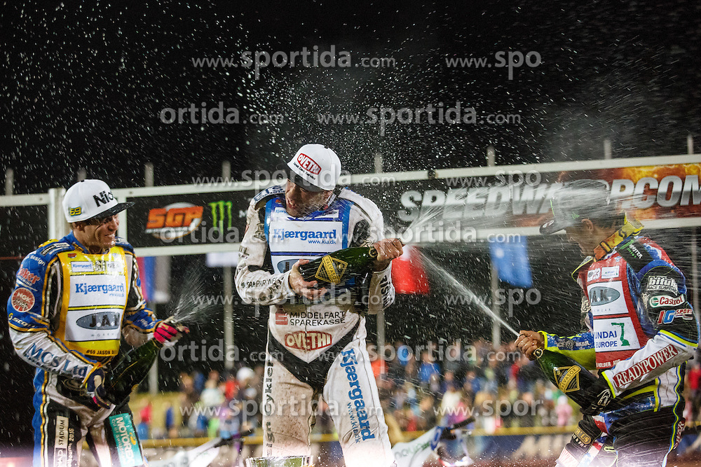 PETER KILDEMAND of Denmark, CHRIS HOLDER of Australia and JASON DOYLE of Australia during FIM Speedway Grand Prix World Cup, Krsko, on 30. April, 2016, in Sports park Krsko, Slovenia. Photo by Grega Valancic / Sportida