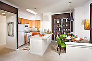 Interior Stock Photo of Kitchen and Dining Room