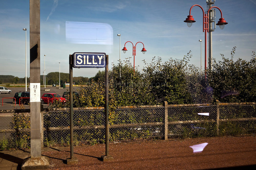 A sign for the town of Silly, Wallonia. Nothing to do with the English word, it refers to the name of the local river, the Sille.