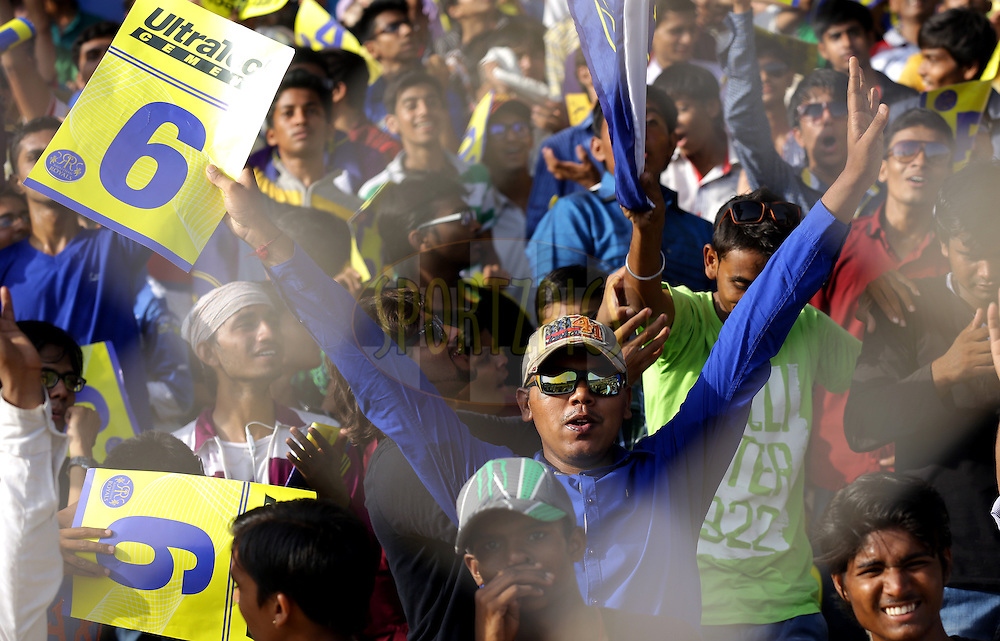 Fan's enjoys during match 44 of the Pepsi Indian Premier League Season 2014 between the Rajasthan Royals and the Mumbai Indians held at the Sardar Patel Stadium, Ahmedabad, India on the 19th May  2014<br /> <br /> Photo by Sandeep Shetty / IPL / SPORTZPICS      <br /> <br /> <br /> <br /> Image use subject to terms and conditions which can be found here:  http://sportzpics.photoshelter.com/gallery/Pepsi-IPL-Image-terms-and-conditions/G00004VW1IVJ.gB0/C0000TScjhBM6ikg