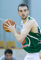 Mirza Begic of Olimpija at third finals basketball match of Slovenian Men UPC League between KK Union Olimpija and KK Helios Domzale, on June 2, 2009, in Arena Tivoli, Ljubljana, Slovenia. Union Olimpija won 69:58 and became Slovenian National Champion for the season 2008/2009. (Photo by Vid Ponikvar / Sportida)