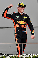 Max Verstappen of Red Bull Racing celebrates winning the Malaysian Formula One Grand Prix at the Sepang International Circuit, Malaysia.<br /> Picture by EXPA Pictures/Focus Images Ltd 07814482222<br /> 01/10/2017<br /> *** UK &amp; IRELAND ONLY ***<br /> <br /> EXPA-EIB-171001-0237.jpg