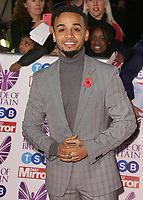 Aston Merrygold, The Daily Mirror Pride of Britain Awards 2017, Grosvenor House, London UK, 30 October 2017, Photo by Brett D. Cove