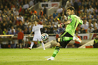 Real Madrid´s goalkeeper Iker Casillas during the Spanish Copa del Rey `King´s Cup´ final soccer match between Real Madrid and F.C. Barcelona at Mestalla stadium, in Valencia, Spain. April 16, 2014. (ALTERPHOTOS/Victor Blanco)