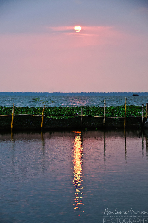 Sunset on the Kerala Backwaters