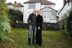 © Licensed to London News Pictures. 06/01/2012. Bromley, London. Graham King and his partner Pamela from Bromley, London who are giving away their house in a prize draw competition. Frustrated after months of being unable to sell his £650,000 family home because of the current economic climate,  Graham and wife Pamela  have set up a website so that people can purchase tickets for the competition at £30 each, while viewing the property.   The competition which is due to start this week will run until June 26 2012. Mr King needs to sell 25.000 tickets for the prize draw to go ahead. If few than 23,400 tickets are sold a cash prize will be given to the winner instead. **CONTACT DETAILS AVAILABLE, CALL 02083544272** Photo credit : Grant Falvey/LNP