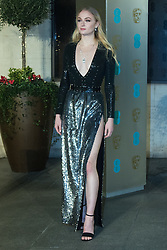 Photo Must Be Credited ©Alpha Press<br /> Sophie Turner <br /> arrives at the EE British Academy Film Awards after party dinner at the Grosvenor House Hotel in London.