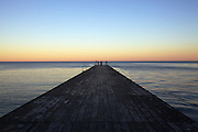 Ystad. The pier at Saltsjöbad Hotel.