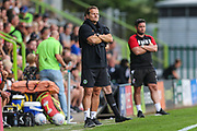 Forest Green Rovers manager, Mark Cooper during the Pre-Season Friendly match between Forest Green Rovers and Bristol City at the New Lawn, Forest Green, United Kingdom on 24 July 2019.