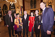 Vienna, Austria. Cocktail reception hosted by Mayor Michael Häupl (m.) at City Hall for international scientists and researchers living and working in Vienna.<br /> From l.: Alexander van der Bellen, Commissioner for Universities and Research; Prof. Mag. Dr. Susanne Weigelin-Schwiedrzik, Vice Rector University of Vienna; Prof. Dr. Helga Nowotny, Vienna Science and Technology Fund (WWTF), President of the European Research Council (ERC); Michael Häupl, Mayor of Vienna; ?; ?; Andreas Mailath-Pokorny, Executive City Councillor for Cultural Affairs and Science.