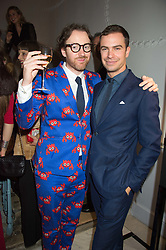 Left to right, PHILIP COLBERT and ROBERT SHEFFIELD at the Tatler Little Black Book Party at Home House Member's Club, Portman Square, London supported by CARAT on 11th November 2015.